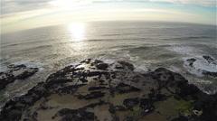 Horizon Sunset Aerial Stock Footage