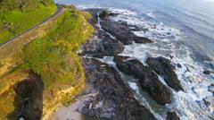 Static Coastal Oregon Aerial Stock Footage