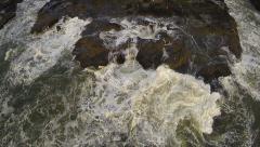 Aerial of Coastal Oregon's Crashing Waves Stock Footage