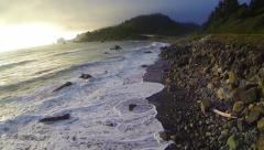 Slow Moving California Coast Aerial Stock Footage
