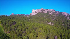 Aerial Approaching Mt. Rushmore Stock Footage