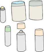 Generic Deodorant Objects Stock Illustration