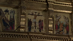 Stock Video Footage of Russian church iconostasis