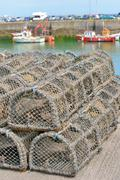 Traps for capture fisheries and seafood Stock Photos