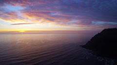 Coastal California Static Aerial Sunset Stock Footage