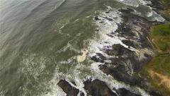 High-Flying Aerial of Coastal Oregon Stock Footage