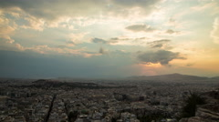 Athens - day to night - Timelaps Stock Footage