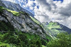 Amazing landscape over the pyrenees mountains in france Stock Photos