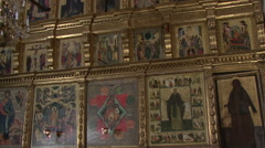 Stock Video Footage of icon of the Russian Orthodox Church
