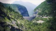 Stock Video Footage of Dam Vaiont.