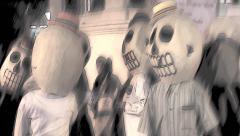 Skeletons dancing Stock Footage