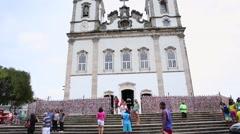 The famous Igreja Nosso Senhor do Bonfim da Bahia church in Salvador Stock Footage