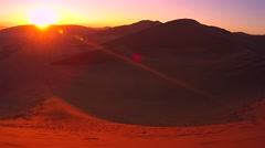 Sunrise time lapse in Namib Desert, Namibia, Africa. 4K. - stock footage