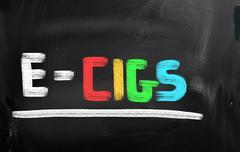 Electronic Cigarette Concept - stock illustration