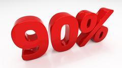 3d ninety percent - stock illustration