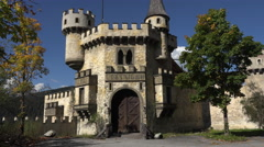 Abandoned resort castle German Austria border 4K 037 Stock Footage