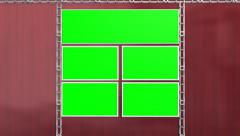 Virtual Studio Green Screen Video Wall Background Animation - 4K Stock Footage