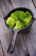 Crunchy Boiled Broccoli Stock Photos