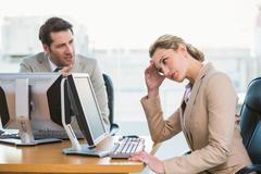 Businessman arguing with a colleague Stock Photos