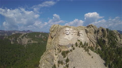 Mt Rushmore Aerial Stock Footage