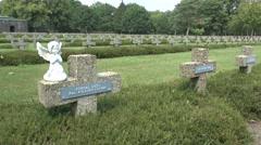The Lommel German war cemetery, Lommel, Belgium. Stock Footage