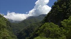Mountain creek in Taroko Gorge, Taiwan Stock Footage