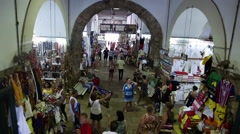 Inside view of the traditional Mercado Modelo in Salvador, Brazil Stock Footage