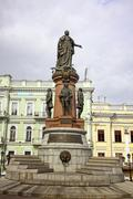 Monument to empress Catherine the Great in downtown Stock Photos