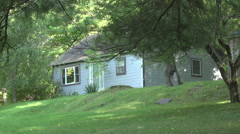 A cottage in the woods Stock Footage