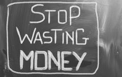 Stop Wasting Money Concept Stock Illustration