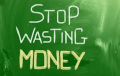 Stop Wasting Money Concept - stock illustration