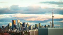 4K Timelapse of Toronto Skyline Before Sunset Stock Footage