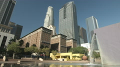 Pershing Square in down town Los Angeles 4K Stock Footage