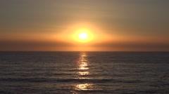 Ocean View Sunset on Exotic, Tropical Island, Dusk, Sea Sunrise, Golden Beach 4K Stock Footage