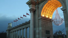 Princes' Gate a monumental gate at Exhibition Place in Toronto, Canada Stock Footage