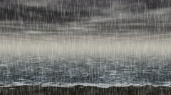 Stock Video Footage of Rainy sea landscape generated seamless loop video
