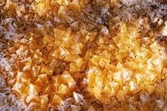 Yellow crystals Stock Photos