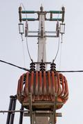 Transformer on high power station Stock Photos