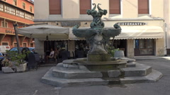 Livorno Italy hotel restaurant outdoor cafe 4K 059 Stock Footage