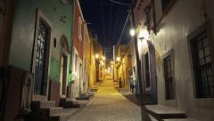 Colorful street of Mexico Stock Footage