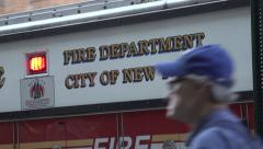 New Fire Department attend a fire Stock Footage