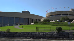 Rear view of the Canadian Museum of History in Ottawa Stock Footage