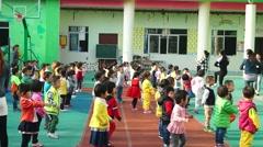 China kindergarten parent-child activities, the children are very happy Stock Footage