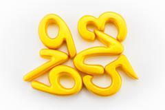 Numbers yellow Kuvituskuvat