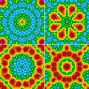 Kaleidoscopic patterns Stock Photos