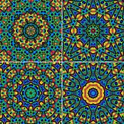 Kaleidoscopic patterns texture Stock Photos