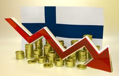 Currency collapse - Finland Stock Illustration