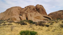 The Spitzkoppe Mountains in Namibia, Africa. Stock Footage