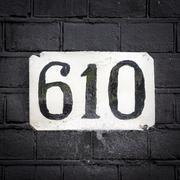 Number 610 Stock Photos