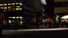 Street by night, people/ Timelapse - DSC 0071 - stock footage